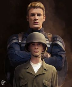 Captain America (Steve Rogers) before and after. Captain America by Debbie M. Marvel Fanart, Marvel Dc Comics, Marvel Heroes, Captain Marvel, Steve Rogers, Iron Man, Brooklyn, Capitan America Chris Evans, Die Rächer