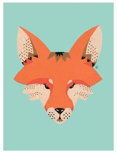 illustration Renard / Fox / Posca / Copyright © ELISE ENJALBERT /