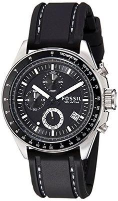 #9: Fossil Decker Chronograph Analog Black Dial Men's Watch - CH2573
