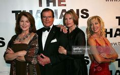 Bond Girls Lois Chiles, Honoree Sir Roger Moore, Maud Adams and Lynn Holly Johnson during the Thalians 52nd Anniversary Gala honoring Sir Roger Moore to raise funds for the Thalians Mental Health Center at Cedars Sinai Hospital held at The Beverly Hilton Hotel on October 21, 2007, in Beverly Hills, California.
