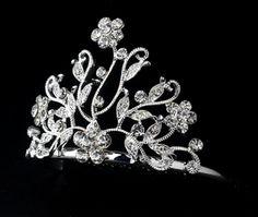 Crystal Flower Girl's Tiara Comb