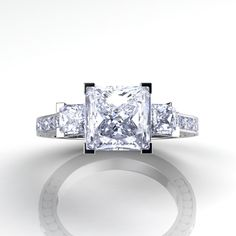 An amazing princess cut engagement ring by Danhov