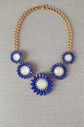 $36 Tinley Park Floral Necklace - Francescas