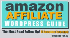 The Amazon affiliate WordPress must read follow up gives you the latest info on how my amazon affiliate experiment is going.. Success or failure? Find out! Wordpress Guide, Lessons Learned, Online Marketing, Make Money Online, Online Business, Blogging, Amazon, Learning, Store Online