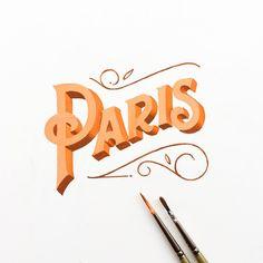 "40 Likes, 1 Comments - Hendry Juanda (@hendryjuanda) on Instagram: ""Paris . . . . . . . . . #letterhendstudio #belmenid #kaligrafina #artline #artlineid #signpainting…"""