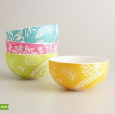 Spring Floral Bowls at Cost Plus World Market >>  #WorldMarket Easter Style Hunt Sweepstakes. Enter to win a 1K World Market gift card.