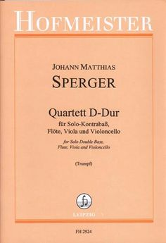 Quartet in D for flute, viola, cello, bass