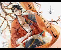Mutsunokami Yoshiyuki, Touken Ranbu, Princess Zelda, Fan Art, Manga, Sketching, Collections, Fictional Characters, Happy