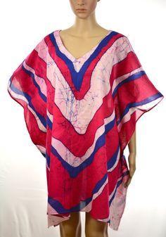 Women's beach cover up.cotton top.Batik poncho.100% cotton hand made poncho.batik tunic.long tunic.beach kaftan
