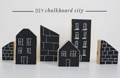 DIY Chalkboard City Blocks