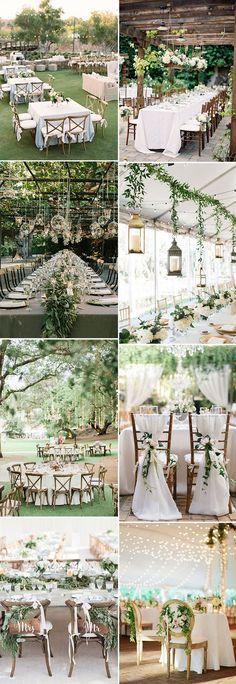 outdoor garden wedding reception ideas