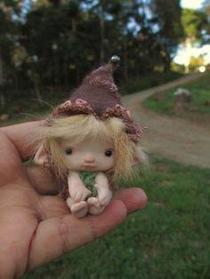süße kleine 2 cm Fee Fairie Ooak volle von throughthemagicdoor