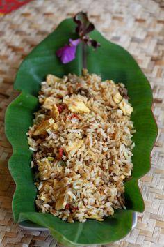 Riz frit façon Karibo Sakafo, librement inspiré du Nasi Goreng et de la cuisine de ma maman