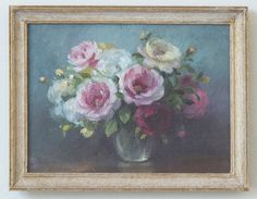 """Especially pretty 1/12"""" scale painting from Ninette & Co. Look at how soft and tender the blossoms are, nothing is overworked."""