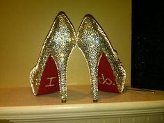 Handmade Genuine Swarovski Crystal Shoes by Blingedoutbliss, $335.00