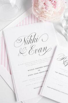 Pink & White Stationary // Follow us on Instagram: @thebohemianwedding