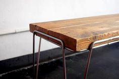 A bench made from upcycled wood