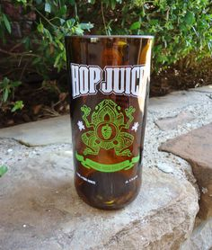 Recycled Beer Bottle Glass from a Left Coast Brewery Hop Juice Beer Bottle by ConversationGlass, $18.00