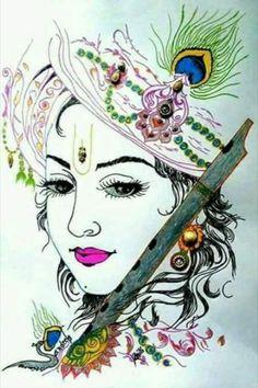 Arte Krishna, Radha Krishna Pictures, Lord Krishna Images, Krishna Radha, Krishna Photos, Iskcon Krishna, Shiva Photos, Krishna Leela, Durga