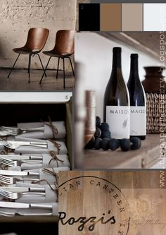 Wine Labels and Cutlery Packs