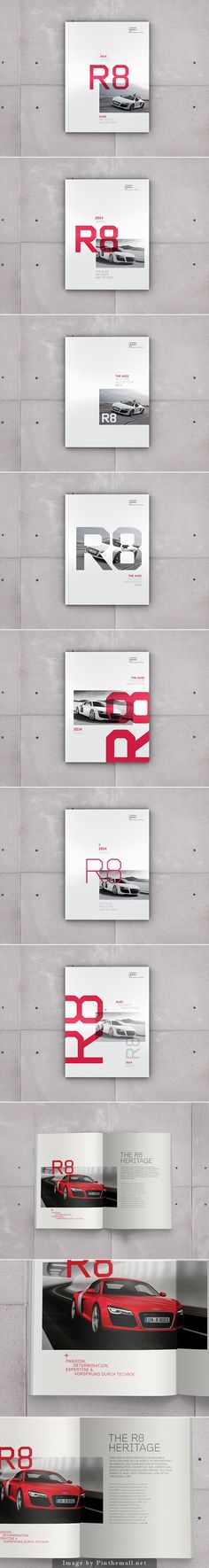 Audi R8 Brochure Editorial Design, Graphic Design, Print Design Project By Jonathan Quintin