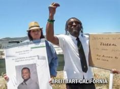 "#Murrieta Black Protester: 'Illegal'... 'This Is Not a Racial Word!' ""Who speaks for me?!"" called Anthony Coulter at the protest site in Murrieta, CA. This [illegal] is not a racial word. Do you see white? Do you see black? Do you see Hispanic? Do you see Chinese, Vietnamese? Do you see human? Do you see inhuman? My history here goes back for over 400 years or more. I know I have a right to be here. I know I have a right to be heard. But I'm not represented at all."