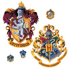 Harry Potter Crest Peel And Stick Giant Wall Decal
