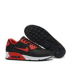 check out 081ea cbf3c Homme Nike Air Max 90 Noir Rouge Chaussures