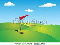 Vector - Golf - stock illustration, royalty free illustrations, stock clip art icon, stock clipart icons, logo, line art, EPS picture, pictures, graphic, graphics, drawing, drawings, vector image, artwork, EPS vector art