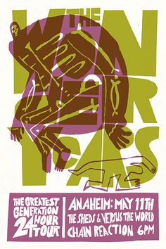 The Wonder Years - The Sheds - Versus The World #gig #poster #design