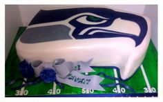 Seattle Seahawks Cake Valenas Custom Cakery on FaceBook! Valenascakes@gmail.com for a quote