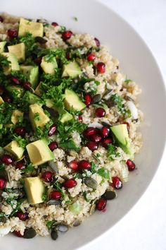 Quinoa, Kale and Pomegranate Salad - Nirvana Cakery