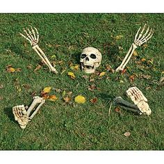 Totally Ghoul  Skeleton Ground Breaker Halloween Decoration
