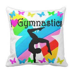 LOVE GYMNASTICS FOREVER DESIGN PILLOW Brand new! Awesome one of a kind Gymnastics Tees and Gifts. http://www.zazzle.com/mysportsstar/gifts?cg=196751399353624165&rf=238246180177746410   #Gymnastics #Gymnast #WomensGymnastics #Gymnastgift #Lovegymnastics #PersonalizedGymnast