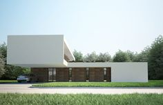 Villa C NG Architects Moderne strakke villa met twee woonlagen. Minder raampartijen en meer hout op noord/oost.