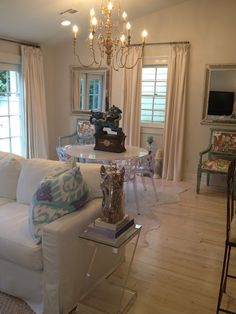 Love these floors and the lucite chairs/side table. perch new orleans