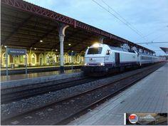 """Tren """"Iberia"""" Salamanca-Irún. Estación de Medina del Campo. http://ju5modelismo.blogspot.com.es/"""