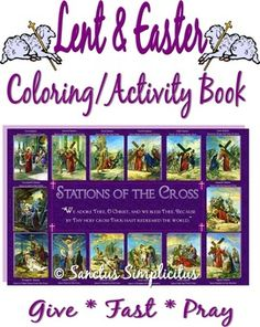 create your own lent and easter coloring and activity book