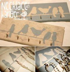 Pure sweet joy: Necklace (or key) hanger {tutorial}