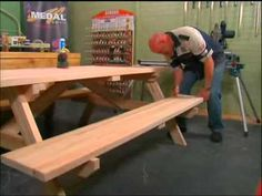 DIY met Riaan: Episode 6, Deel 8 - YouTube Picnic Table, Youtube, Home Decor, Decoration Home, Room Decor, Home Interior Design, Picnic Tables, Youtubers, Youtube Movies