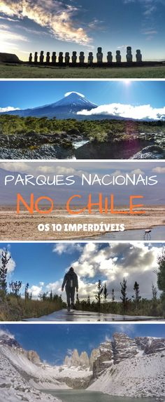 10 parques nacionais imperdíveis no Chile. Torres del Paine, Rapa Nui, Chiloé, Saltos de Petrohué, Lago Chungará, San Pedro de Atacama, Laguna Chaxa, Flamingos, trekking no Chile. Places To Travel, Places To Go, Patagonia, We Are The World, South America Travel, Travel List, World Traveler, Science And Nature, Travel Inspiration