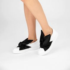 Discover the playful Minna Parikka shoes, including the famous bunny sneakers! Styles P, Adidas Sneakers, Slip On, Glamour, Black And White, Mini, Leather, Fashion, Moda