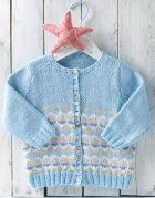 Book Baby 72 Spring / Summer | 25: Baby Jacket | White / Light jeans / Sky blue / Very light beige