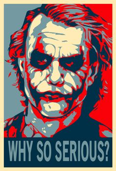 The Joker ShepardFairey Style2 by ~WCFOmen on deviantART - Took inspiration from the Shepard Fairey campaign poster for the Barack Obama presidential election