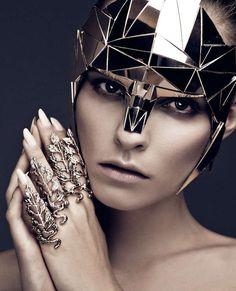 Conceptual Cyborg Accessories - The Dichotomic Editorial by Aleksandra Zaborowska is Futuristic (GALLERY)