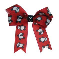 Panda AOII Hair Bow want!!!