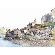 Staithes by Ian Baxter, Gorgeous work.