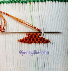 We left off in this tutorial with tying off our floss. Now we need to rethread o. We left off in this tutorial with tying off our floss. Now we need to rethread our needle with 4 ne Smocking Plates, Smocking Patterns, Punto Smok, Smocked Baby Dresses, Smocked Clothing, Hands Tutorial, Smocking Tutorial, Cross Stitch Tutorial, Smocks