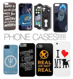 """""""PHONE CASES!!!!!"""" by jvanbuekenhout on Polyvore featuring JFR, Marc by Marc Jacobs and Disney"""