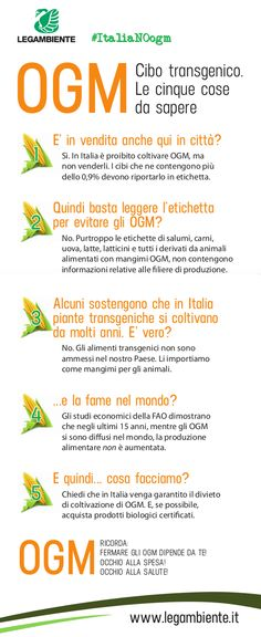 OGM: le 5 cose da sapere. www.legambiente.it/italia-NO-ogm  #ItaliaNOogm